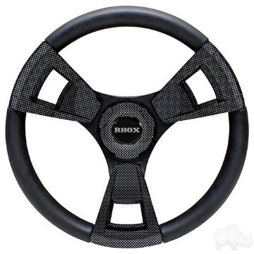 Fontana Steering Wheel, Carbon Fiber, Club Car EZGO Hub